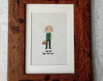 Personalised Individual Custom Cross Stitch Portrait