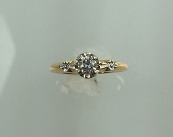 Vintage 1940's diamond ring .25ct