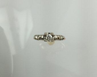Vintage 1950's 5 stone diamond engagement ring .20ct