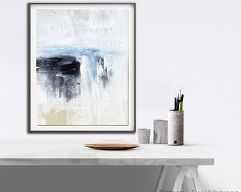 Modern Print Abstract Printable Wall Art Digital Download Print Home Decor Blue White Art Abstract Painting Interior Design by Sky Whitman