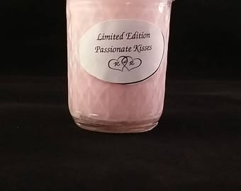 Limited Edition Passionate Kisses Soy Half-pint Mason Jar Candle