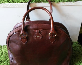 The Bridge bag vintage brown leather with handles