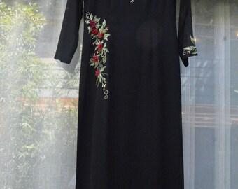 Floral Trim Dress