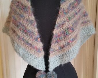 SALE!   Scarf, Mohairschal, shawl, crochet cloth, stole, hippie, Bohemianstyle, Frauenschal, beach clothing