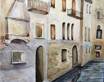 Gondola (Original Watercolor Painting)