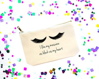 Canvas Cosmetic Bag, Makeup Pouch, Funny Best Friend Gift, Zipper Tote, Travel Bag