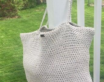 Tweed Beach Bag, Tweed Bag, Crochet Bag, Crochet Tote, Beach Tote, Summer Bag, Summer Tote, Pool Bag