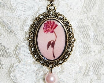 Beauty and the Beast Rose Disney Inspired Necklace