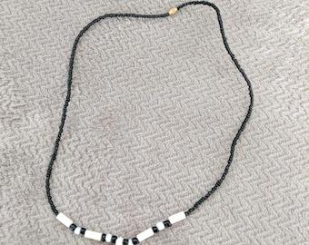 "Handmade Beaded ""Gye Nyame"" Necklace"