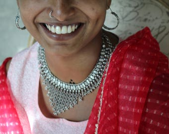 Silver necklace - traditional Indian neckpiece