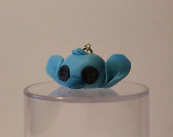 Button-eye Stitch Polymer Clay Charm