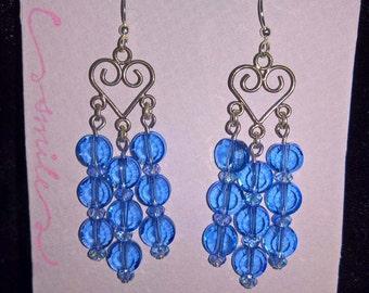 Bright Blue Chandelier