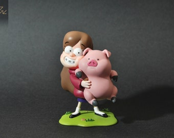 Gravity falls | Mabel and Waddles | figure Mabel Pines