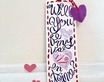 Handcrafted bookmark for Valentine's
