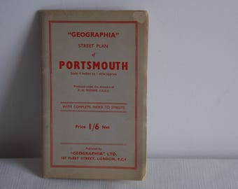 A Special reduction... 1940's street plan of Portsmouth England.