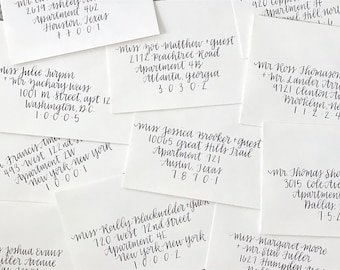 "Envelope Addressing / Custom Envelopes / Formal Envelopes / Wedding Invitations / Calligraphy / Pen and Ink / Lettering / ""Shepherd"""