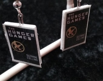 Hunger Games Book Earrings