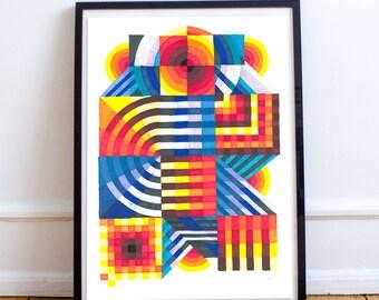 Geometric Art painting - giclee print