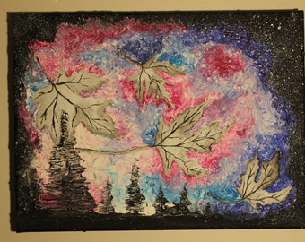 Forest Leaves Acrylics Wall Art