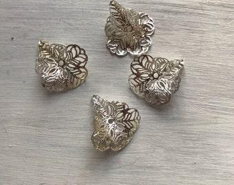 Filigree silver beadcap (beadcap)