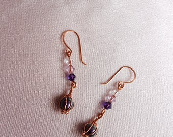Swarovski Crystal Pearl Drop Earrings - Vintage Inspired