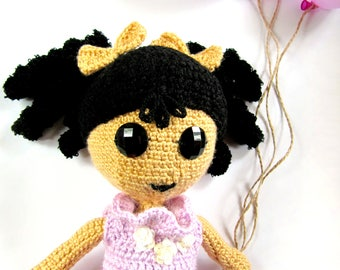 Doll Sophie, a knitted toy