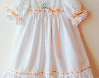 Dress Heirloom hand embroidered bodice lace ribbon trim