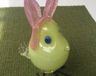 Glass Chick with Bunny Ears