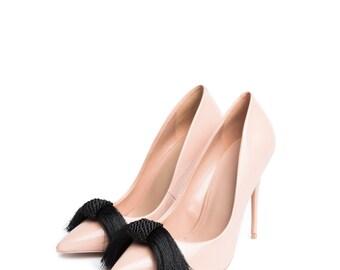 Silky in Black - Shoe Clips
