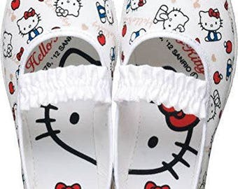 hello kitty shoes/comfort kid shoes/toddler shoes/toddler girl/hello kitty/kitty shoes/preschool scholes/little kid shoe/kid ballet shoes