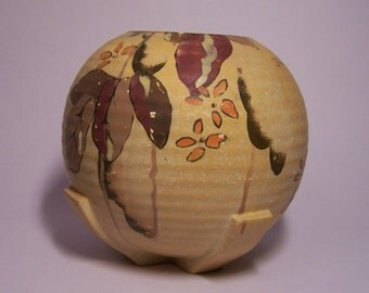 VASE ART DECO of plaster painted handmade Pandora years 30