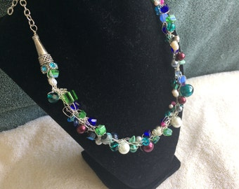 Crocheted Wire Necklace
