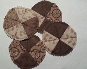 Quilted fabric coasters