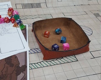 Leather Dice Tray