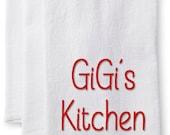 GiGi's Kitchen/Personalized Kitchen Flour Sack Towel-Name