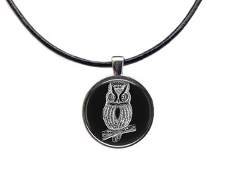 Royal amulet Owl necklace Bird chain Animal jewelry