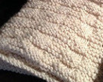 PDF Knitting Pattern Cottage Chic Chunky Knit Throw Pattern - 2 Sizes included!
