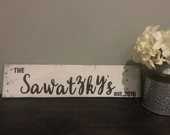 Wooden Last Name Sign - Last Name Signs - Reclaimed Last Name Sign - Reclaimed Wooden Sign - Last Name - Lake Decor - Rustic Cabin Decor
