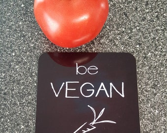Be Vegan Coaster Set of 4