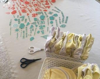 Little Traveler Baby Bodysuit Decorating Kit | Hot Air Balloon Baby Shower  Kit | Gender Neutral