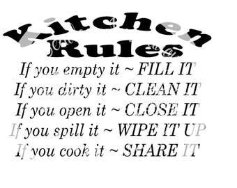 Kitchen Rules Cutting File