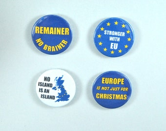 "Pinback 1"" Button Badge, Anti-Brexit Badge, protest badge"