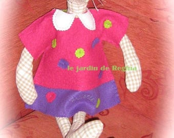 doll of rags: Hortense, mouse
