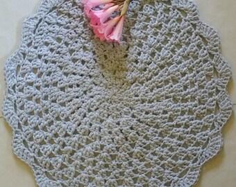 handmade crochet doily rug