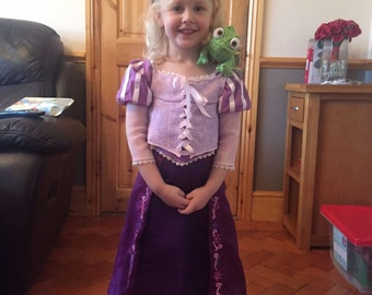 Beautiful handmade Rapunzel costume with full boarder embroidery
