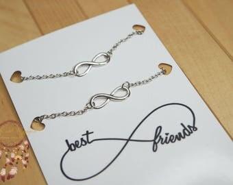 Friendship bracelets | infinity bracelets, bracelets, best friends, bracelets set, minimalist jewelry, jewelry card, necklace card, gift