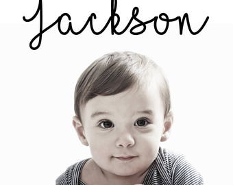 Cursive Name Wall Decal - Baby's Room - Toddler's Room - Teen's Room - Locker Decal