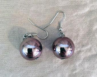 Metallic Ball Dangle Earrings