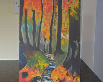 Autumn trees painting