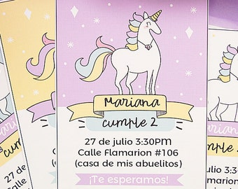 Diamond Unicorn invitation